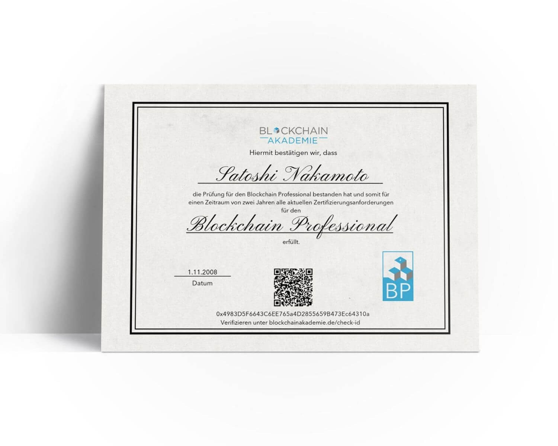 Blockchain Professional Zertifizierung